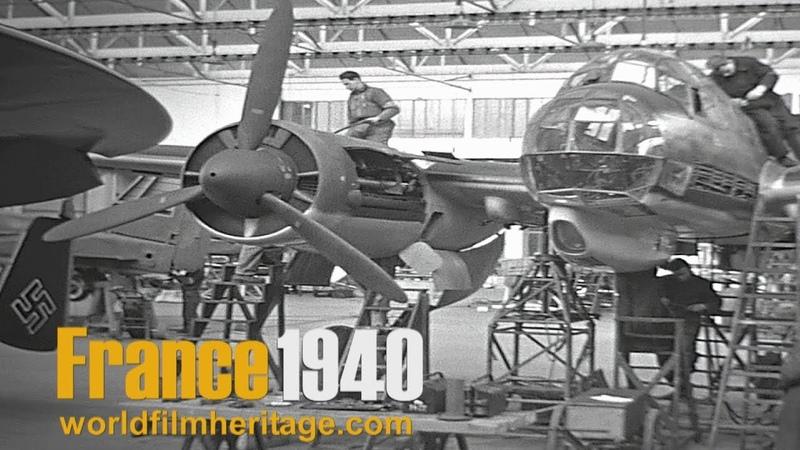 France 1940 - German Occupation - Paris in color - L´aviation - Les usines de Méaulte