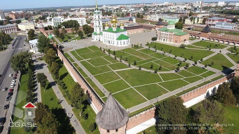 Аэросъемка города Тула (Кремль)/Aerial view of the city of Tula (Kremlin)