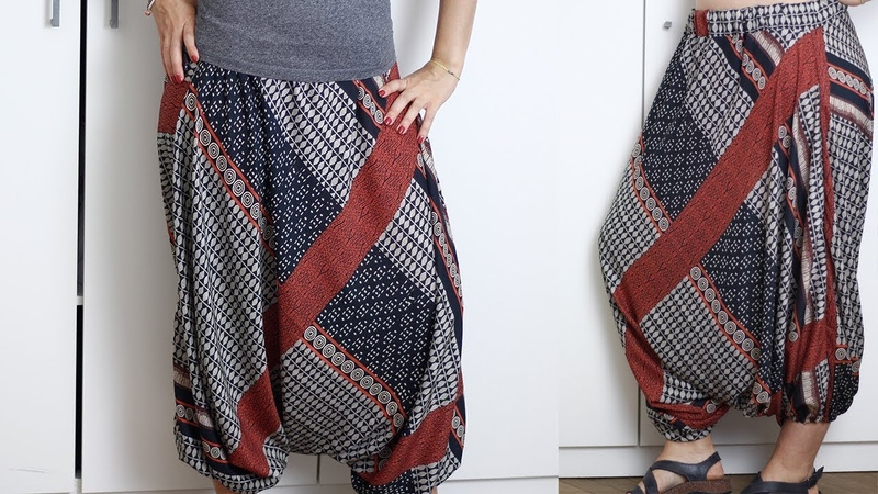 Cucire pantaloni in stile etnico per l'estate Cucito senza cartamodello Un punto alla volta