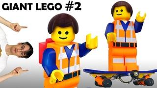 Giant LEGO Electric Skateboarding Minifig #2  |  James Bruton
