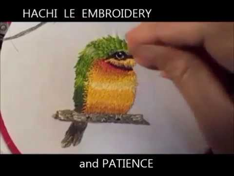 Hand Embroidery Tutorial How to Embroider a Bird with Fur Effects