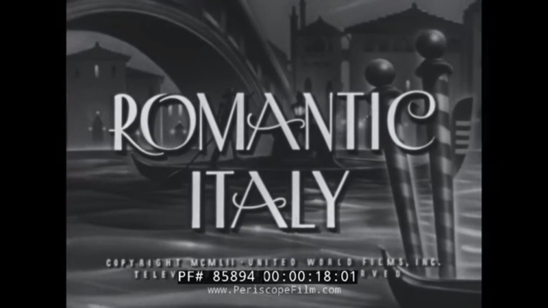 ROMANTIC ITALY 1950s TRAVELOGUE FLORENCE SAN GIMIGNANO VENICE SIENNA WINE MAKING 85894