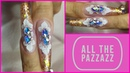 Sculpted Ballerina Nails With Pazzazz - Bling, Glitter, Mylar and More