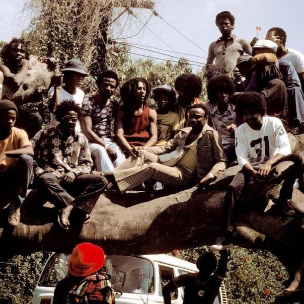 Боб Марли и Майкл Джексон на Ямайке, 1975 год.