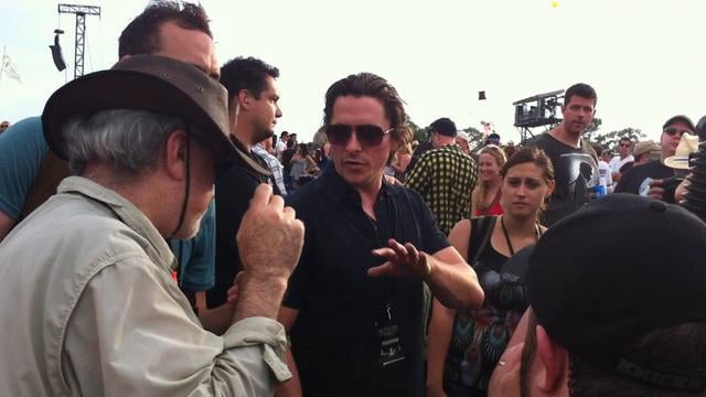 Terrence Malick Christian Bale working on new film at ACL.
