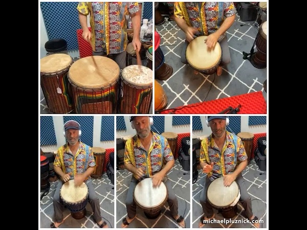 3 ways to play Guinea Mendiani Ballet style plus several accompaniment parts and djembe solo