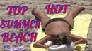 TWO MINUTE VACATION The best beach of Barcelona Girls sunbathe topless Fun Video