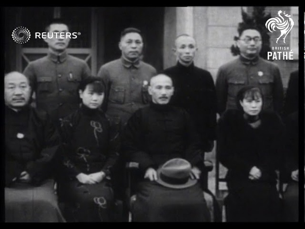General Chiang Kai shek returns home after being kidnapped 1936
