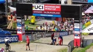 UCI MTB World Cup Downhill @ Leogang 2017, horrible crash Remi Thirion