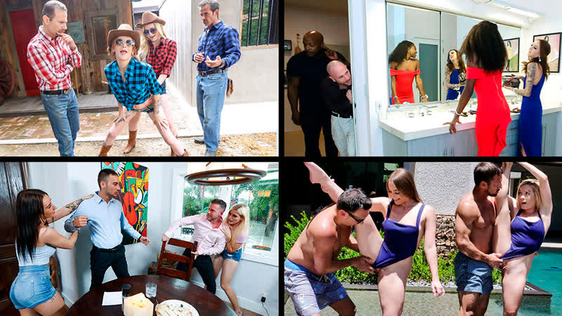 Megan Hughes Katie Kush etc Daughter Swap Compilation 4 All Sex, Bedroom, Blonde, Blow Job,