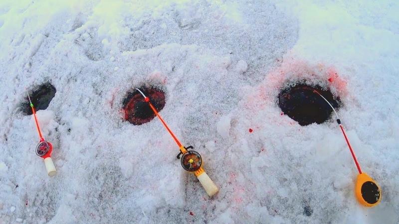 Рыбалка на поставушки как раньше Зимняя рыбалка на стоячку на четыре удочки Подлещик