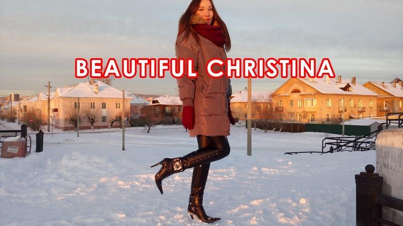 Christina's high heels Gianmarco Lorenzi boots Кристина Кожина Desember 20 2017