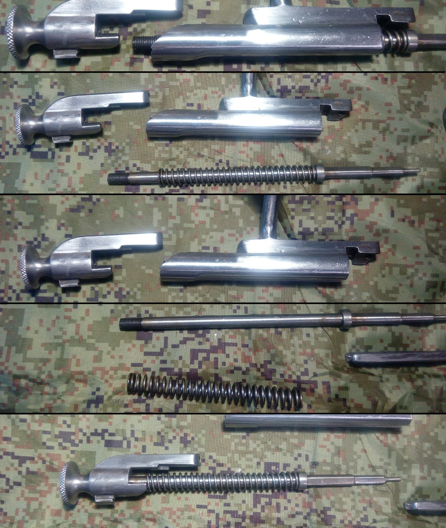 Как видите, затвор винтовки Мосина — до смешного простая конструкция.