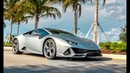 Lamborghini Huracan EVO Closer Look Start Up Sound Interior Exterior at Lamborghini Miami