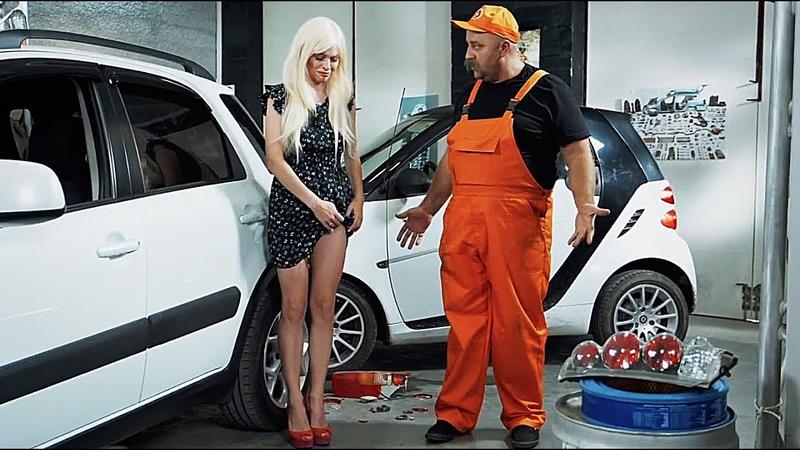 Тупая Блондинка за рулем попала в ДТП - расплата на СТО!! Подборка, аварии, драки 2019 | На Троих
