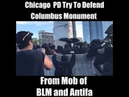 Protesters clash with Chicago police near Christopher Columbus statue in Grant Park