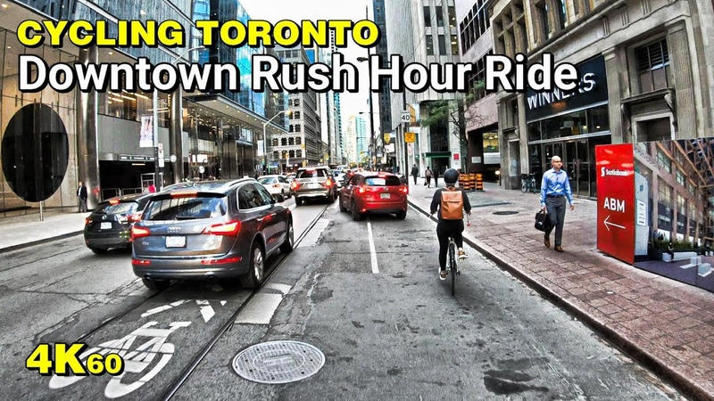 Cycling Toronto - Downtown rush hour madness ride [4K60]