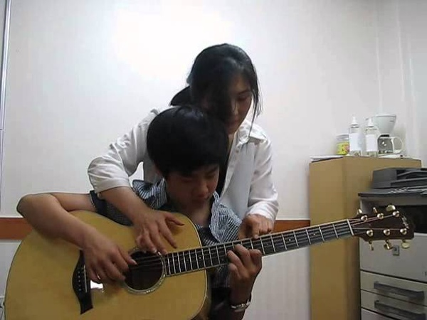 Four hands guitar - 임형빈 - 엄마와함께 ^^