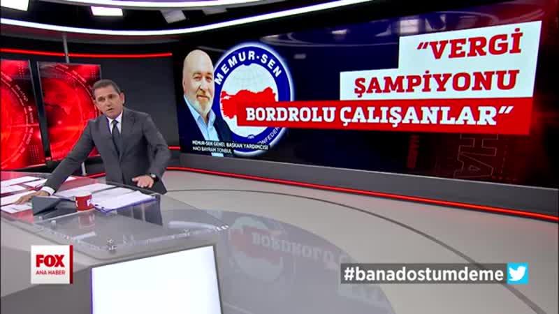 0051 Memur Senden vergi tepkisi 13 Kasım 2019 Fatih Portakal ile FOX Ana Haber