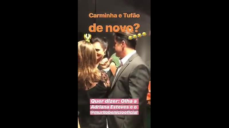 Murilo e Adriana Esteves conversando AmorDeMãe