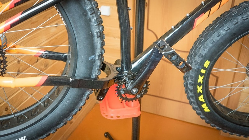 Установка каретки под квадрат Neco, системы Prowheel Charm и педалей BBB BPD-32 на фэтбайк для бати