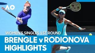 Madison Brengle vs Arina Rodionova Match Highlights (1R) | Australian Open 2021