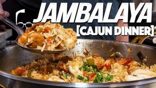 MAKING JAMBALAYA (EASY ONE POT CAJUN DINNER) | SAM THE COOKING GUY