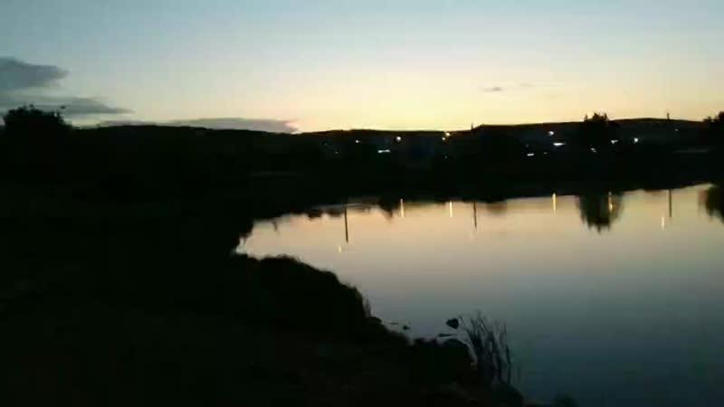 Вечером семьёй на пруду в Баймаке Башкирии 😇❤️🙏👏👏👏