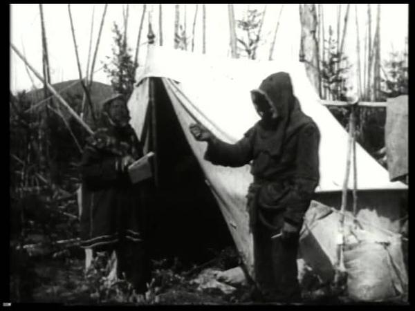 Экспедиция Л А Кулика к месту падения Тунгусского метеорита съёмка 1921 года