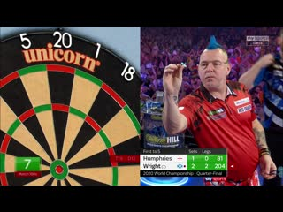 Peter Wright vs Luke Humphries (PDC World Darts Championship 2020 / Quarter Final)
