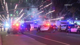 Rioters Pelt Officers With Fireworks, Other Debris In Santa Ana (Caught On Camera)