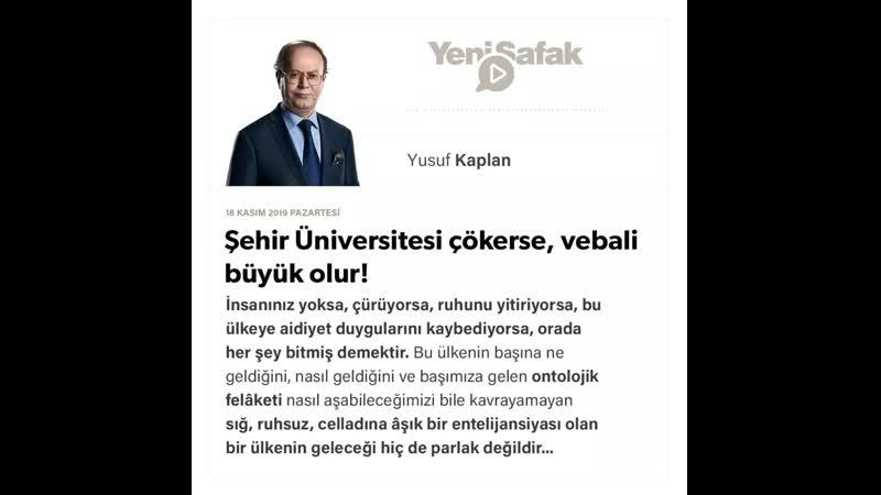 08. Yusuf Kaplan - Şehir Üniversitesi çökerse, vebali büyük olur!- 18.11.2019.mp4