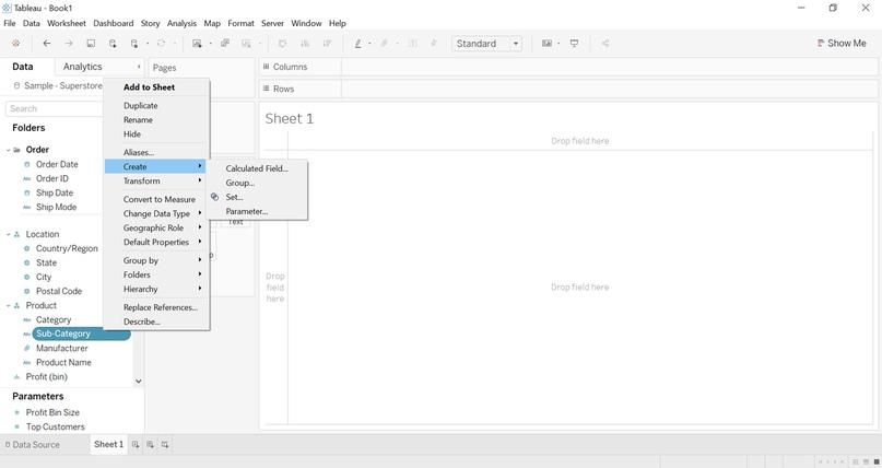 Как создать представление и провести анализ «что - если» с помощью элемента Set Control в Tableau 2020.2, изображение №1