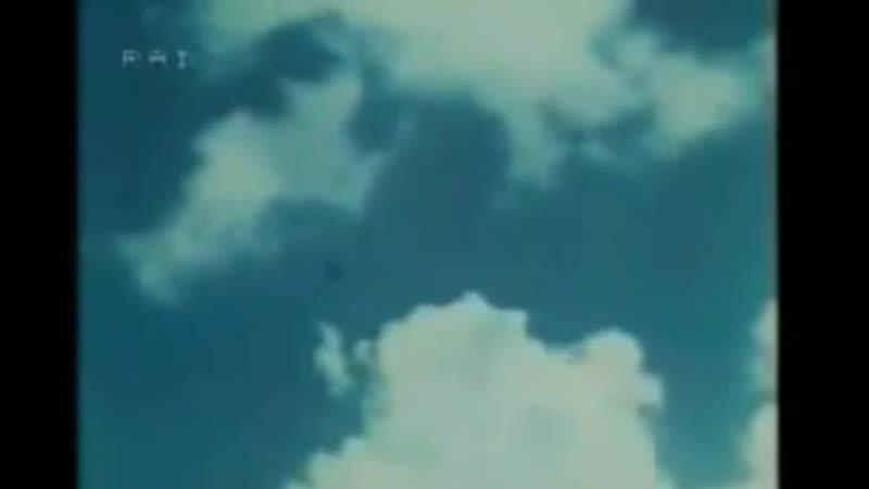 Заставки начало и конца эфира с тримя каналами RAI 1954 1983