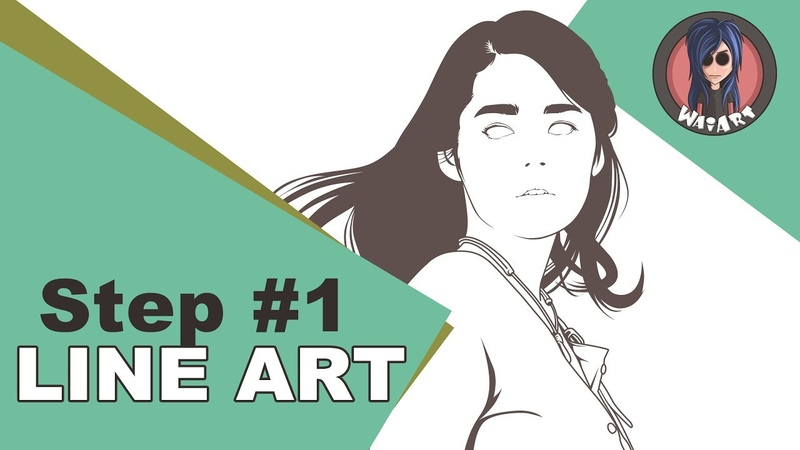 Vexel Art Tutorial using photoshop cs6 (step 1 Line Art)
