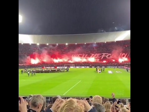 Feyenoord - Young Boys INSANE PYRO by Feyenoord hooligans