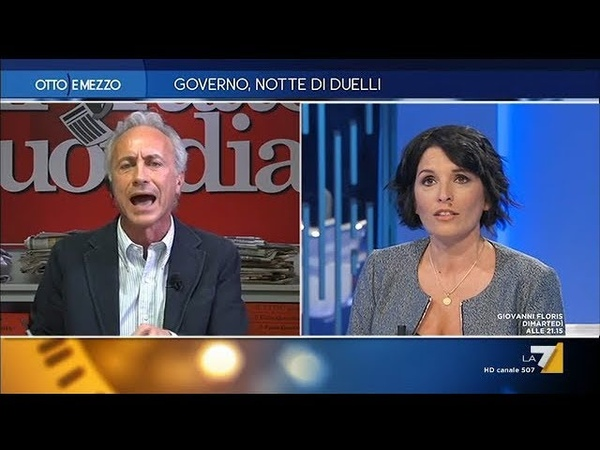 Manette agli evasori Scontro durissimo tra Marco Travaglio e Marianna Aprile