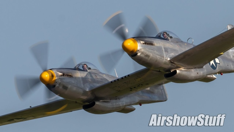 XP 82 Twin Mustang Flybys EAA AirVenture Oshkosh 2019