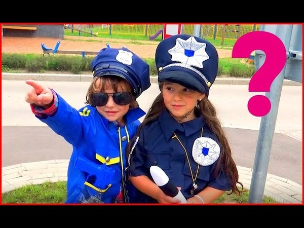 Super cops catch criminal Makar and Anna pretend play Policeman