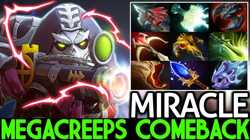MIRACLE Sniper New Monster Level 30 MegaCreeps Comeback 7 23 Dota 2