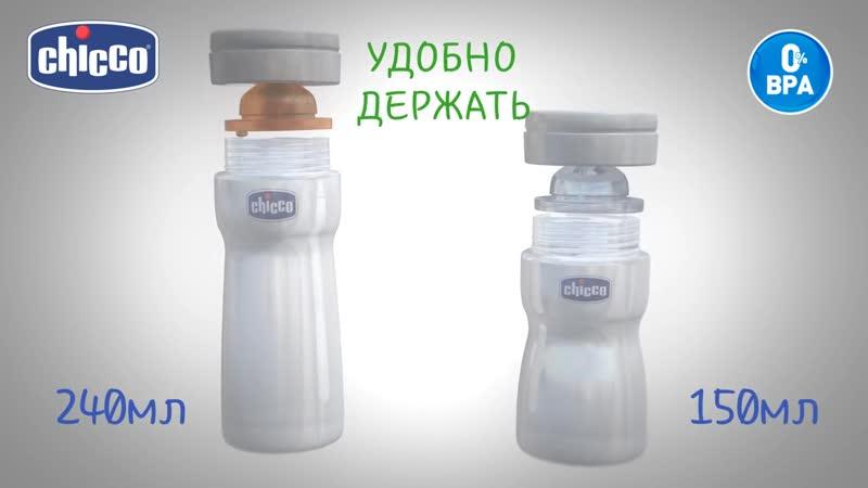 Бутылочки для кормления Well Being от Chicco