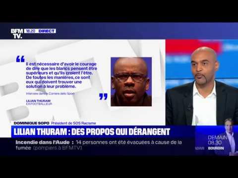 Dominique Sopo se ridiculise et victimise Lilian Thuram