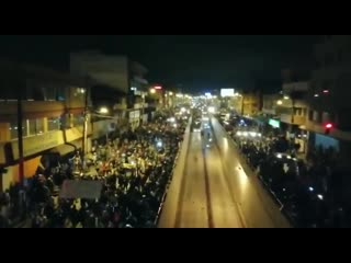 But still, there are huge crowds making their way through the capital quito to join the march on the presidential palace.