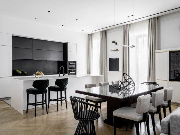 Квартира в Москве в черно-белой гамме от Ирины Граве