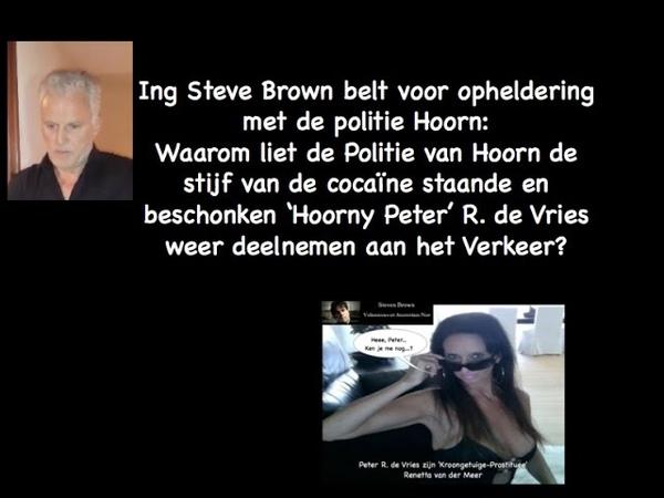 11696 Insluiper Geilneef Peter' Vries stijf vd drugs mag deelnemen aan Verkeer van politie Hoorn YouTube