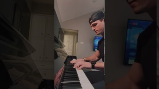 Guy plays his girlfriend's favorite song on the piano to see her reaction.