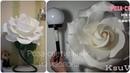 DIY МК Прикроватный светильник ночник Роза из изолона на светильник c FixPrice Large Rose lamp
