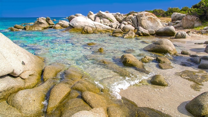 Gentle Waves on a Small White Rock Beach Relaxing Ocean Sounds