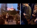 Prayers at Notre Dame Fire PARIS