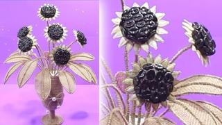 Sunflower with jute rope | Jute flowers decoration | Diy home decor 2019